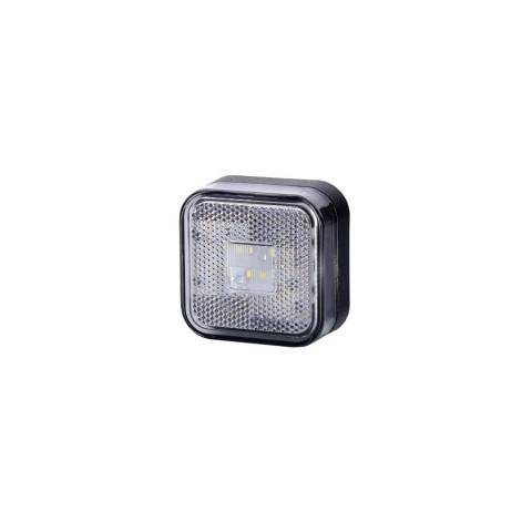 Lampa LED kwadratowa biała odblask (LD096)