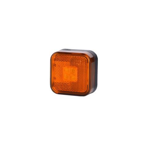 Lampa LED kwadratowa pomarańczowa odblask (LD097)