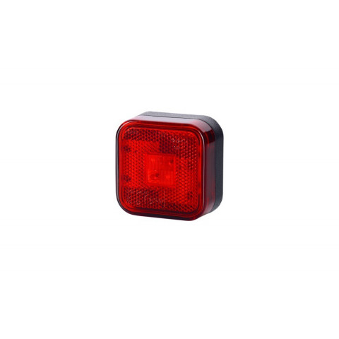 Lampa LED kwadratowa czerwona odblask (LD098)