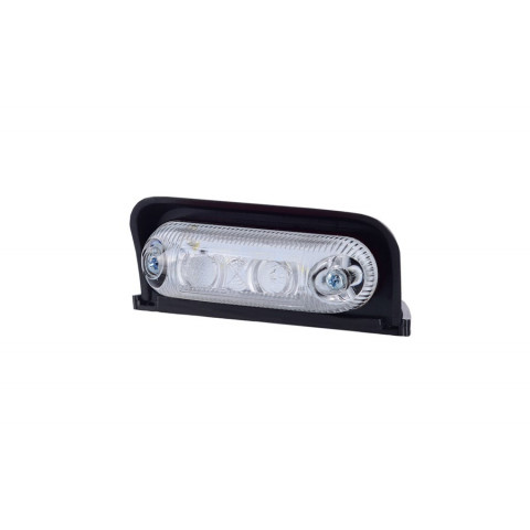Lampa LED obrysowa owalna narożna biała (LD230)