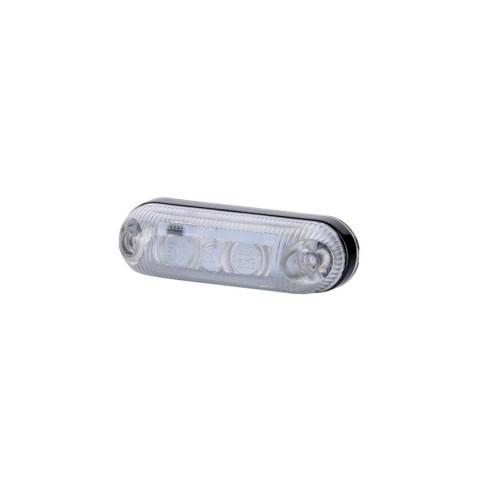 Lampa LED obrysowa owalna biała (LD370)