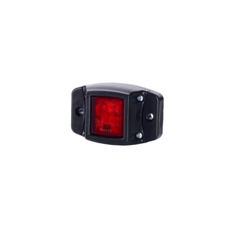 Lampa LED obrysowa podst. gumowa czerwona (LD438)