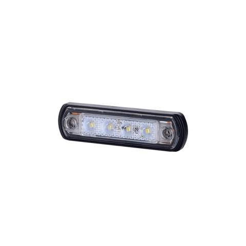 Lampa LED obrysowa biała podst. gumowa (LD675)