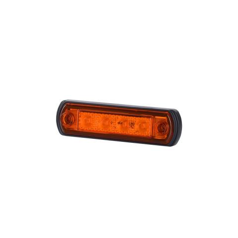 Lampa LED obrysowa pomarańczowa p. gumowa (LD676)
