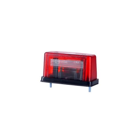 Lampa ośw. tablicy rejestracyjnej czerwona (LT106)