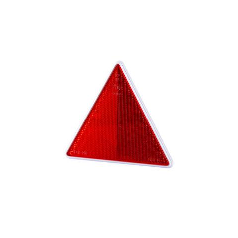 Trójkąt odblask czerwony ramka na 2 śruby (UOT024)