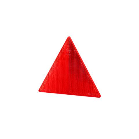 Trójkąt odblask czerwony na 2 śruby (UOT025)