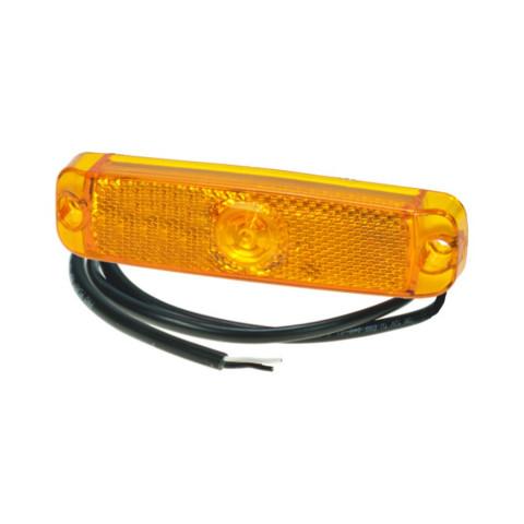 Lampa LED obrysowa boczna żółta 12/24V 40023901