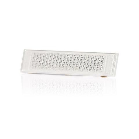 Odblask przyklejany biały prostokątny 126x34 (163)