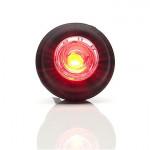 Lampa LED obrysowa tylna okągła czerwona (669)