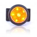Lampa LED pozycyjna boczna okągła żółta (546kr)