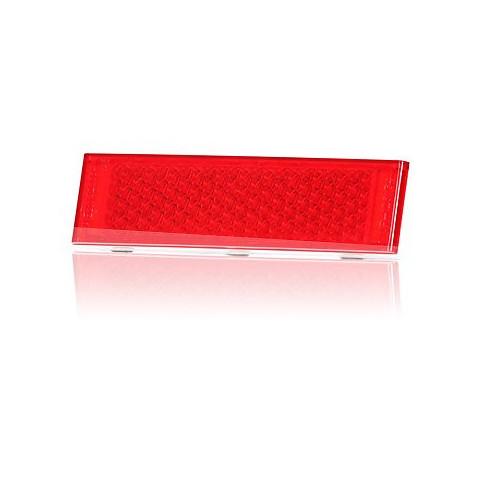 Odblask przyklejany czerwony 126x34 (165)