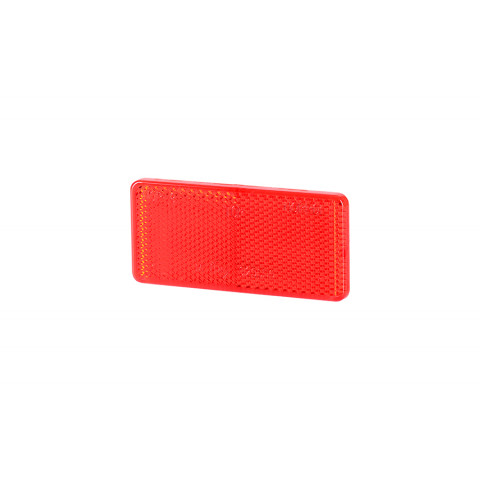 Reflective adhesive device red 44x94 (UO031)
