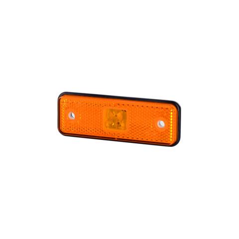 Lampa LED pozycyjna pomarańcz z podkładką (LD526)
