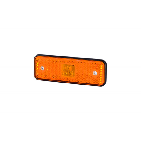 Side marker LED light with rubber pad amber (LD526)