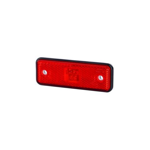 Lampa LED pozycyjna czerwona z podkładką (LD527)