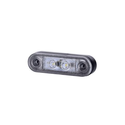 Lampa LED pozycyjna biała z podkładkami (LD956)