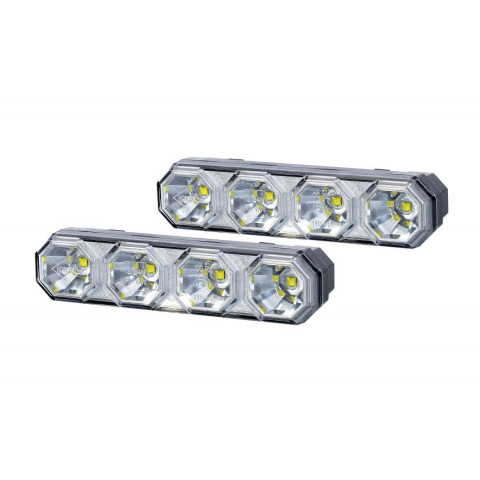 Set of daytime running LED lamps 4 diodes (LDR2106)