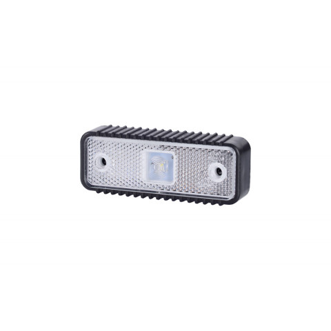 Lampa LED obrysowa biała podkł. ryflowana (LD537)