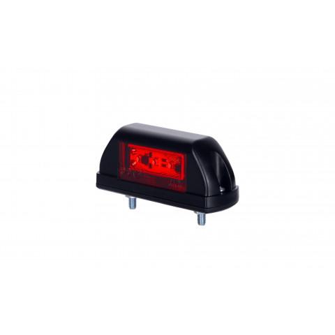 Lampa LED obrysowa biało-czerwona 12V/24V (LD703)