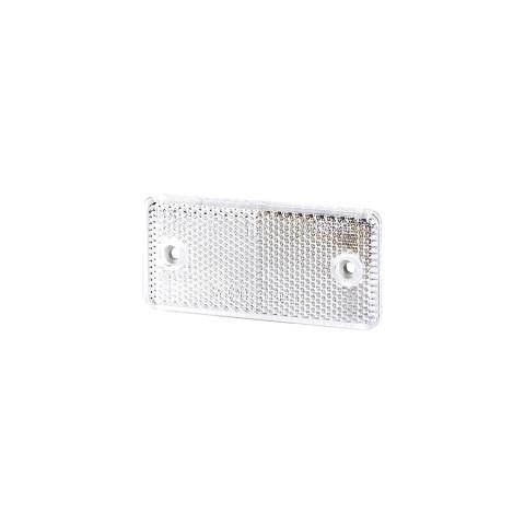 Odblask z otworami biały 44x94 (UO026)