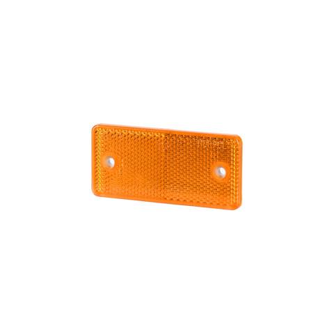 Odblask z otworami pomarańczowy 44x94 (UO027)