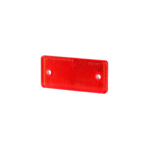 Odblask z otworami czerwony 44x94 (UO028)