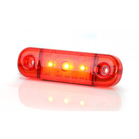 LED rear position lamp red 3LED (709)