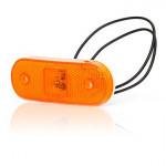 Lampa LED pozycyjna boczna żółta owalna (229)
