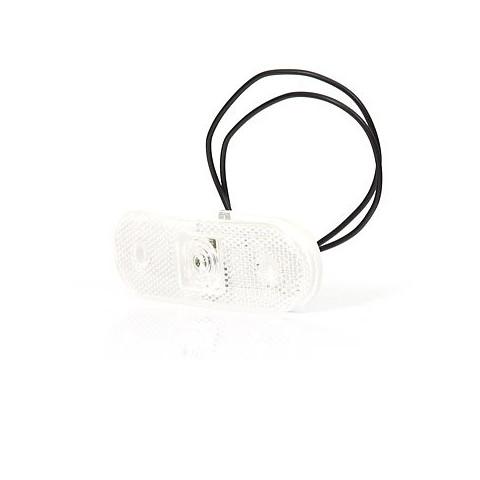 Lampa LED obrysowa przednia biała owalna (231)