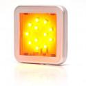 Lampa LED pozycyjna boczna żółta kwadrat (983KR)