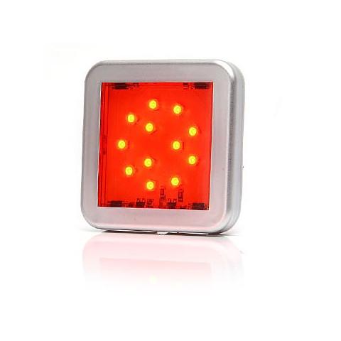 Lampa LED pozycyjna tylna czerwona kwadrat (984KR)