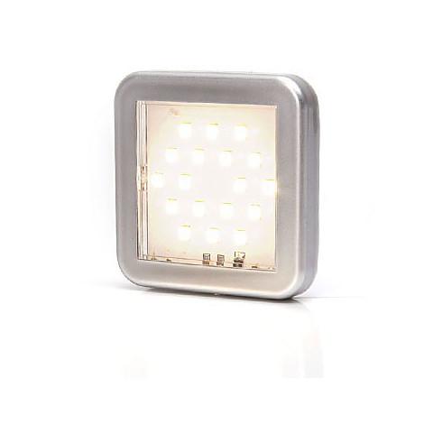 Lampa LED oświetlenia wnętrza kwadratowa 12V (989)