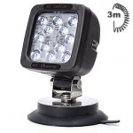 Lampa LED robocza 12LED magnes 3m przewód (691.3)