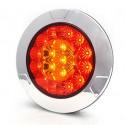 Lampa LED tylna 3 funkcje okrągła 12V-24V (980)