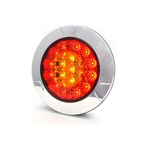 Lampa LED tylna 3 funkcje okrągła 12V-24V (980/I)