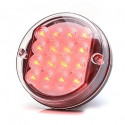 LED brake stop lamp round 12V (176)