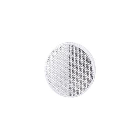 Reflevtive device round 75mm white self-adhesive (UO038)