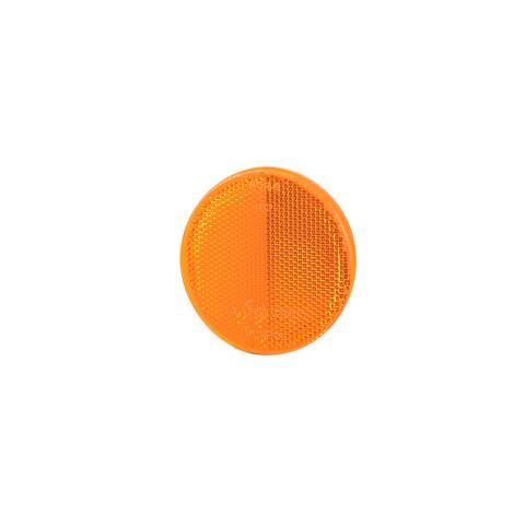 Reflevtive device round 75mm amber self-adhesive (UO039)