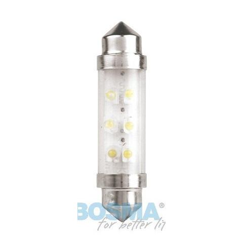 LED bulb 12V SV8,5 10x42 white standard BOSMA 2pcs 2946