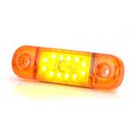 Lampa LED pozycyjna boczna 12LED SLIM 12V 24V 714