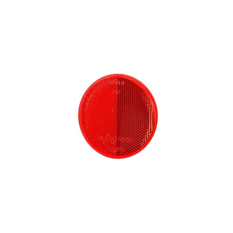 Reflective device round red 75mm UO040