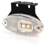 Lampa LED pozycyjna przednia owalna biała (309Z)