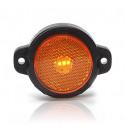 Lampa LED pozycyjna boczna żółta okrągła (654)