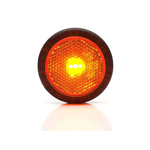 LED side position lamp yellow round (654)