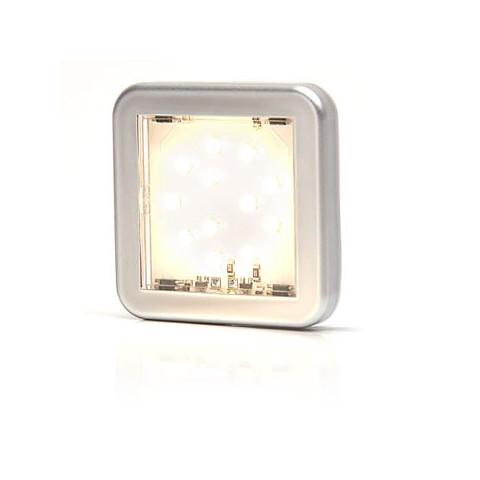 Lampa LED pozycyjna przednia biała kwadratowa 985