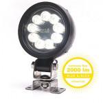 Lampa LED robocza okrągła 2000lm 36LED rozproszone 1216