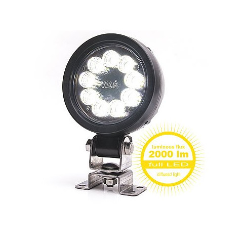 LED work lamp round 7000lm diffused light 9LED 1153