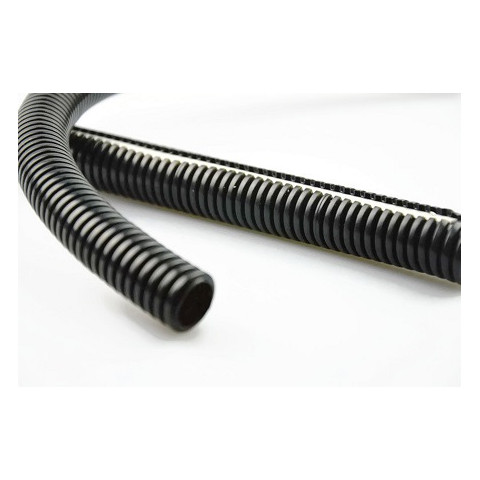 Corrugated pipe hose LDPE black 1m 14/11