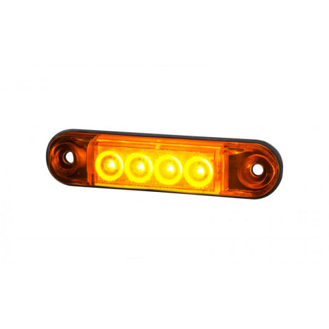 Lampa LED obrysowa boczna żółta SLIM 12V-24V LD2328